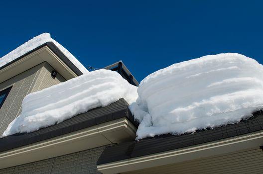 雪防止策2 無落雪屋根にする